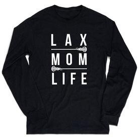 Girls Lacrosse Tshirt Long Sleeve - Lax Mom Life
