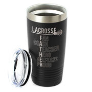 Girls Lacrosse 20 oz. Double Insulated Tumbler - Girls Lacrosse Father Words