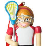 Girls Lacrosse Ornament - Lacrosse Player Nutcracker