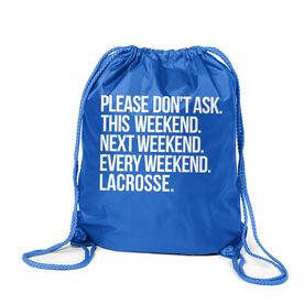 Lacrosse Sport Pack Cinch Sack - All Weekend Lacrosse