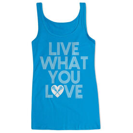 Girls Lacrosse Women's Athletic Tank Top Live What You Love