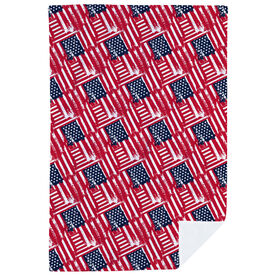 Premium Blanket - USA Flag Sketch