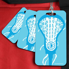 Lacrosse Bag/Luggage Tag Monogrammed Lax is Life