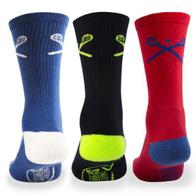 Lacrosse Woven Mid-Calf Sock Set - Crossed Sticks