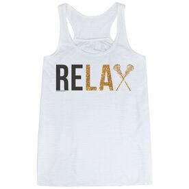Girls Lacrosse Flowy Racerback Tank Top - Relax
