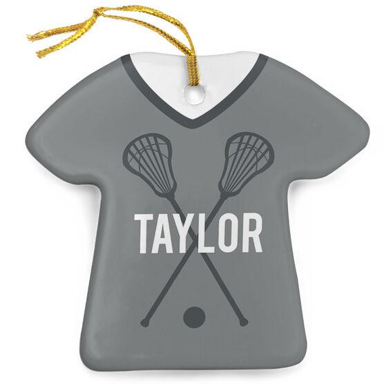 Girls Lacrosse Porcelain Ornament That's My Jersey