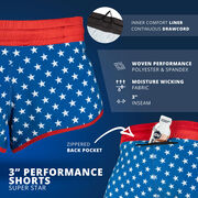 "Super Star 3"" Performance Shorts"