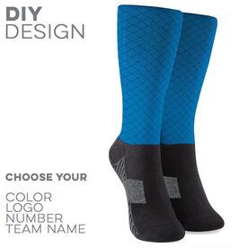 Printed Mid-Calf Socks - Team Socks Mesh