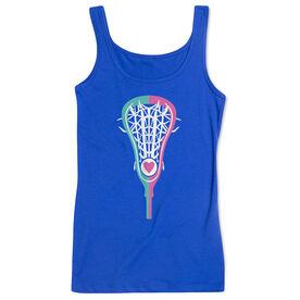 Girls Lacrosse Women's Athletic Tank Top Stick Heart