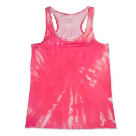 RunTechnology® Performance Tank Top - Pink Sunset Tie-Dye