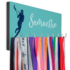 Girls Lacrosse Hooked on Medals Hanger - Personalized Player