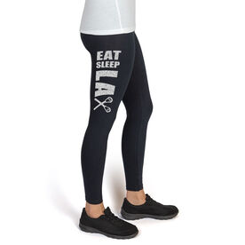 Lacrosse High Print Leggings Eat Sleep Lax