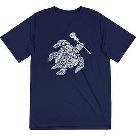 Girls Lacrosse Short Sleeve Performance Tee - Lax Turtle
