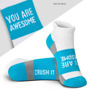 Socrates® Woven Performance Socks You Are Awesome (Teal)