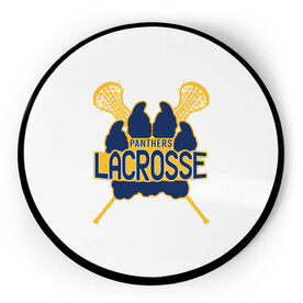 Girls Lacrosse Circle Plaque - Custom Logo