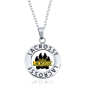 Lacrosse Circle Necklace - Custom Logo