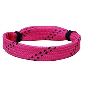 Lacrosse Shooting String Bracelet Pink with Black Adjustable Shooter Bracelet