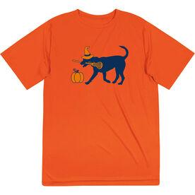 Girls Lacrosse Short Sleeve Performance Tee - Lula Witch Dog