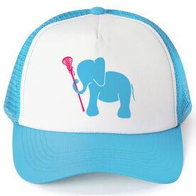 Girls Lacrosse Trucker Hat - Lax Elephant