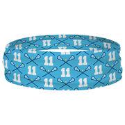 Girls Lacrosse Multifunctional Headwear - Custom Team Number Repeat RokBAND