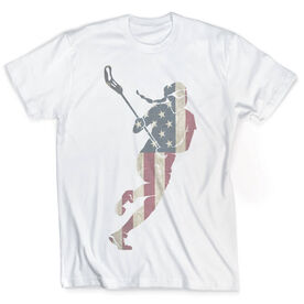 Vintage Girls Lacrosse T-Shirt - Play Lax For The USA