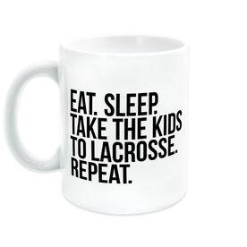 Lacrosse Coffee Mug - Eat Sleep Take The Kids To Lacrosse