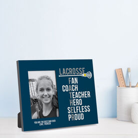 Girls Lacrosse Photo Frame - Lacrosse Father Words
