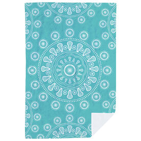 Girls Lacrosse Premium Blanket - Lax Mandala