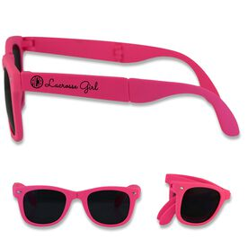 Foldable Lacrosse Sunglasses Personalized Monogram Lacrosse Girl