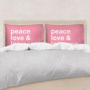 Girls Lacrosse Pillow Case - Peace Love & Lacrosse