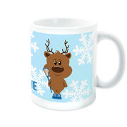 Girls Lacrosse Coffee Mug Reindeer Laxer