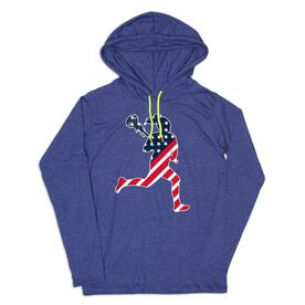 Girls Lacrosse Lightweight Hoodie - Play LAX for USA