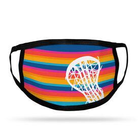 Girls Lacrosse Adult Face Mask - Sunset Stripes