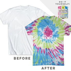 DIY Girls Lacrosse Love Lax - White Tee Ready for Tie-Dye