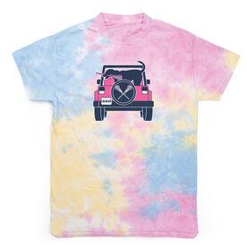 Girls Lacrosse Short Sleeve T-Shirt - LAX Cruiser Tie Dye