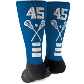 This Princess Wears Cleats Girls Lacrosse Mid-Calf Socks Multiple Sizes