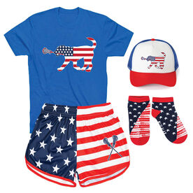 Patriotic Girls Lacrosse Outfit