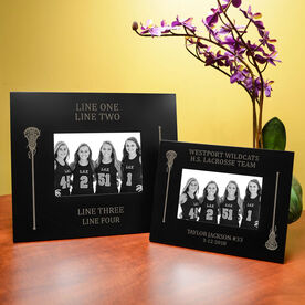 Girls Lacrosse Engraved Picture Frame - Side Sticks