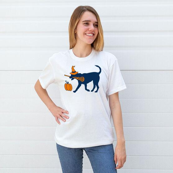 Girls Lacrosse Short Sleeve T-Shirt - Lula Witch Dog