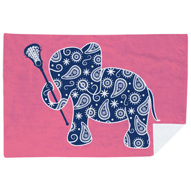 Girls Lacrosse Premium Blanket - Lax Elephant