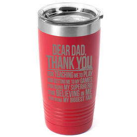 Girls Lacrosse 20 oz. Double Insulated Tumbler - Dear Dad
