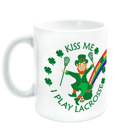 Lacrosse Coffee Mug - Kiss Me I Play