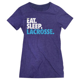Girls Lacrosse Women's Everyday Tee - Eat. Sleep. Lacrosse.