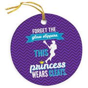 Girls Lacrosse Porcelain Ornament Forget The Glass Slippers This Princess Wears Cleats