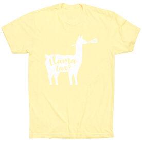 Girls Lacrosse Short Sleeve T-Shirt - Llama Lax