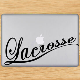 Lacrosse Cursive Removable LulaGraphix Laptop Decal