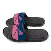 Girls Lacrosse Repwell® Slide Sandals - Colorblock Sticks