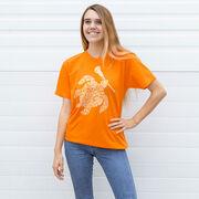 Girls Lacrosse Short Sleeve T-Shirt - Lax Turtle