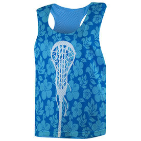 Girls Lacrosse Racerback Pinnie - Tropical Floral