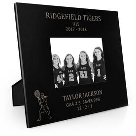 Girls Lacrosse Engraved Picture Frame - Goalie Stats